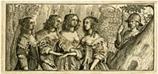 Picture of James Howell's Lexicon Tetraglotton (1660) frontispiece